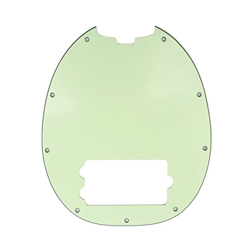 Musiclily 9 Holes 4 String Bass Pickguard Plate for Music Man StingRay MM Style, 3Ply Mint