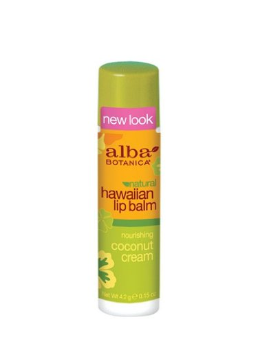 Alba Botanica Nourishing Coconut Cream Hawaiian Lip Balm, 0.15 Ounce Tubes (Pack of 6) ()