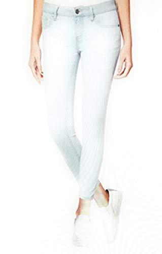 Buffalo David Bitton Women's Mid-Rise Super Soft Capri Jeans (8/29, Light Blue Denim)