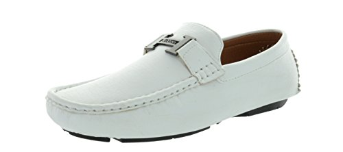 Light Two Moda - BRUNO HOMME MODA ITALY MAJOR-2 Men's Light Weight Casual Driving Moccasins Loafers Shoes White Size 9.5
