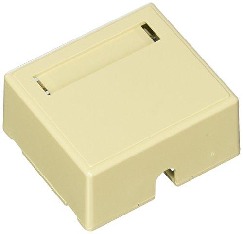 C2G 03832 2-Port Keystone Jack Surface Mount Box, Ivory ()