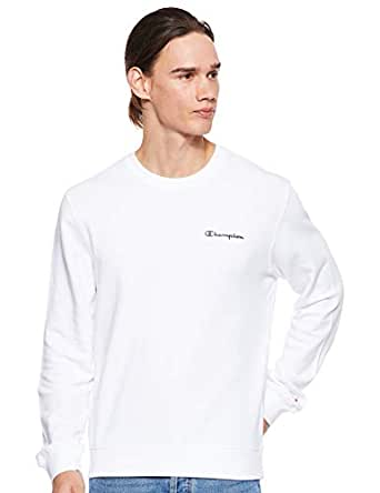 Champion 212684 WW001WHT Men's Sweatshirt, Medium, White