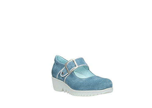 Wolky Comfort Mary Janes Nobile 40820 Denim Scamosciato