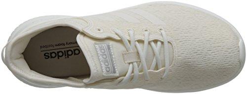 Wht Matte Flex adidas Femme Blanc Cassé Chalk Chalk QT Baskets Wht Silver Cloudfoam APpP8