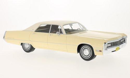 Chrysler Imperial LeBaron 4-Door Hardtop, dunkelbeige/light beige, 1971, Model Car, Ready-made, BoS-Models 1:18