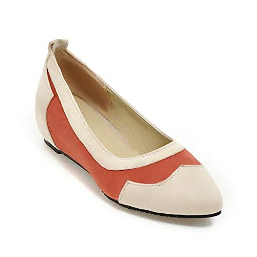 Schuhe Flache Mund Flache Spitz Cxq Heels Casual Frauen CwPqxnU7T