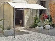 Gardenia Cenador Profesional Yemen (Acero Color Crudo dimenzioni 3 x 2, 5 m, instalación a Pared. Ideal para Muebles jardín, terraza y Bar.: Amazon.es: Jardín