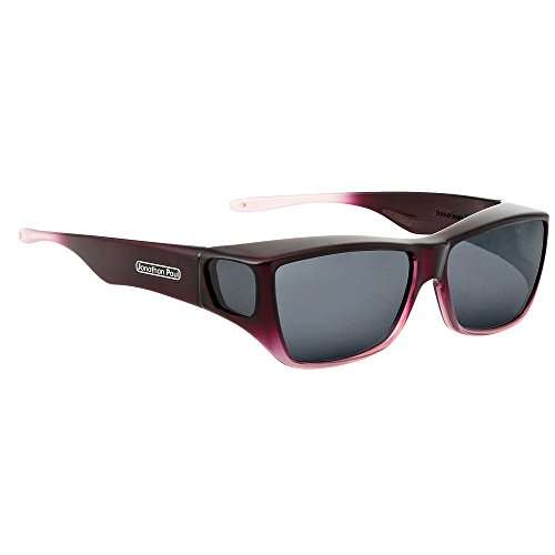 Jonathan Paul Traveler Polarized Fitover Sunglasses in Plum Pink Ombre with Grey Lenses