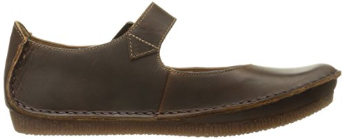 Clarks Janey Leather junio plana Jane Beeswax Mary rrnafwqd1