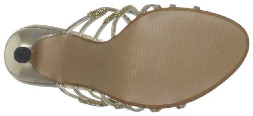 Unze Evening Sandals L18540W - Sandalias para mujer Dorado