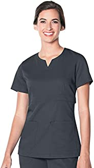 Landau Womens 2 Pocket, Contemporary Slim Fit Luxe Soft Stretch Fabric Medical Scrub Top 9062 Medical Scrubs S