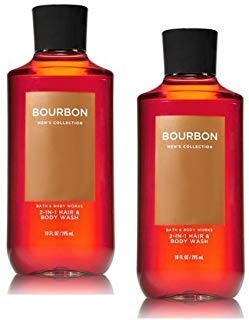 Bath and Body Works 2 Pack Men's Collection 2 in 1 Hair and Body Wash BOURBON.