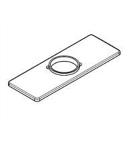 Delta RP78358 Replacement 3 Hole Escutcheon Plate with Gasket, Chrome - Escutcheon Gasket
