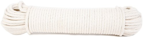 Koch 5600825 Braided Cotton/Poly Sash Cord, Trade Size 8 by 100 Feet, White by Koch Industries