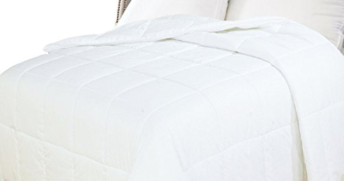 Natural Comfort White Down Alternative Comforter with Embossed Microfiber Shell, Light Weight Filled, ()