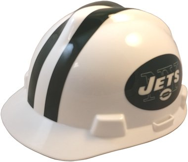 e5559ee07f73a4 MSA NFL Team Safety Helmets with One-Touch Adjustable Suspension and Hard  Hat Tote - New York Jets