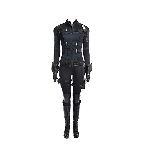 Womens Black Costume Widow Cosplay Halloween Full Set Outfits XS