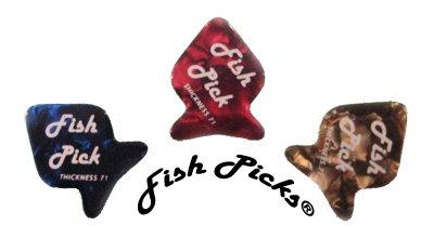 Fish Guitar Picks - Mediums - 6 Pack
