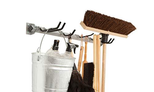 Monkey Bars Storage Mop & Broom 200-LBS Customizable Organizer Wall Mount