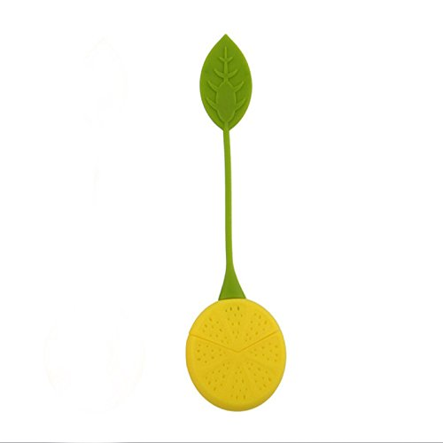 Funnytoday365 2Pcs/ Lot Tea Leaf Herbal Infuser Kitchen Accessories Cute Lemon Shape Tea Filters Maker Strainer Food Silicone Cup Bag by FunnyToday365 (Image #1)