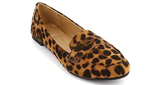 Léopard Chaussures En Souple Plates Classiques Ballerines Daim Femmes 4xzqOUf