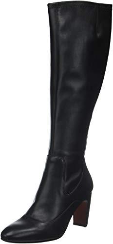 Negro tinta Negro Bottes E Femme Noir Tina Mihara Lycra Negro Hautes Chie xinta33 waTTgU