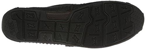 Black Suede Luxe Moda De Skechers Sacudidas en Resbalón Flat qC60nSxw