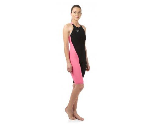 Speedo LZR Elite 2 Openback Kneeskin V2 - Schwimmanzug Damen, Farbe:schwarz/pink;Größe:30
