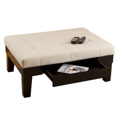 Best Selling Linen Drawer Storage Ottoman