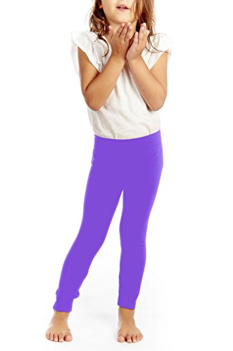 Crush Toddler Girls Seamless Solid Leggings Pants Size 2T - 4T Lilac