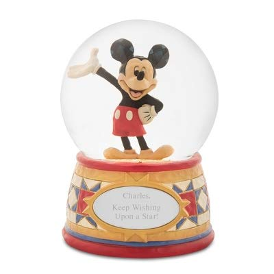 - Things Remembered Personalized Jim Shore Disney Traditions Mickey Mouse Snow Globe with Engraving Included
