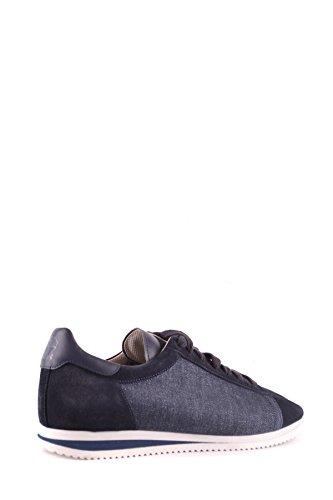 Brunello Cucinelli Herren MCBI053067O Blau Stoff Sneakers