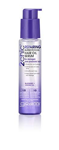 GIOVANNI 2chic Repairing Blackberry & Coconut Hair Oil Serum, 2.75oz