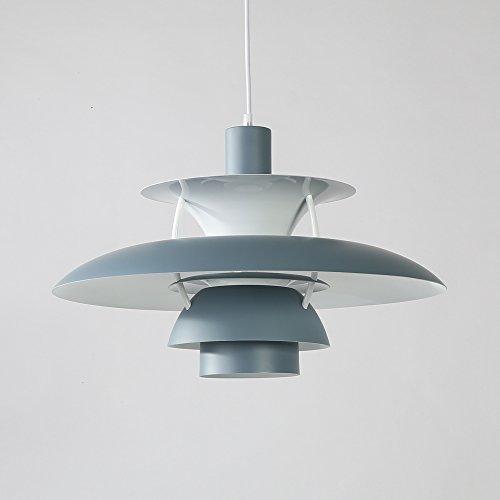 Samzim PH5 Pendant Light Replica, Denmark Design Hanging Light Fixture, Mid Century (Grey) - - Amazon.com