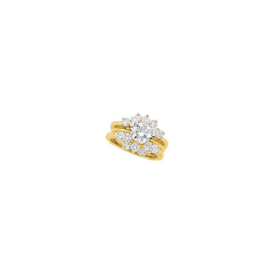 1 1/4 CT TW 14K Yellow Gold Diamond Ring Guard