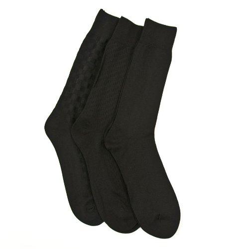 Calvin Klein Men Microfiber Textured Dress Socks - 3 Pack