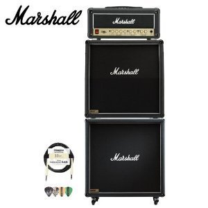 Marshall 5 Button Footswitch (Marshall DSL15H 15W All-Tube Guitar Amp Head and 1960A and 1960B 4x12 Speaker Cabinets Kit - Includes Cable and Pick)