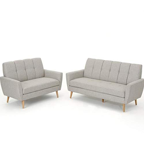 Janzo Furniture Fabric 3+2 Sofa Set  Beige