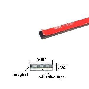 Gordon Glass Flexible Magnetic Strip with High Bond 3M Ad...