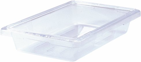 """Rubbermaid 3307 2 gallon Capacity, 18"""" Length x 12"""" Width x 3-1/2"""" Depth, Clear Color, Polycarbonate Food and Tote Box"""