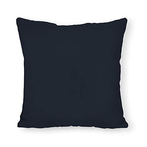 Sunbrella Pillow Covers - FabricMCC Navy Outdoor Throw Pillow Cover, Solid Navy Sunbrella Pillow, Navy Outdoor Lumbar Zippered Pillow Cover 18 x 18 Inch