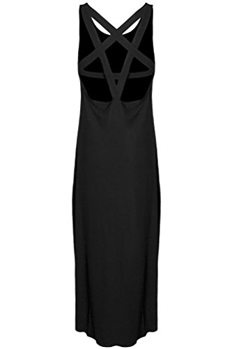 Kill Star okkult robe sans manches dos nu bretelles en forme de pentagramme – Pentagram Maxi Dress