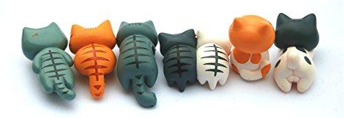 Neko 6 Piece Miniature Fairy Cat for Home Ornaments, Dollhouse Figurine DIY Craft Decor