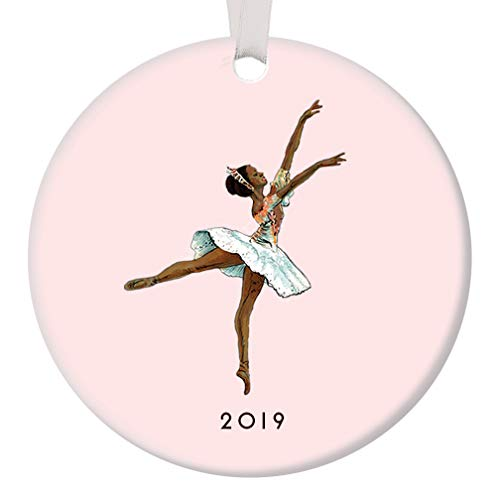 Nutcracker Ballet Ornament Christmas 2019 Black Ballerina Dancing Sugarplum Fairy Dance Performance Porcelain Gift Idea 3