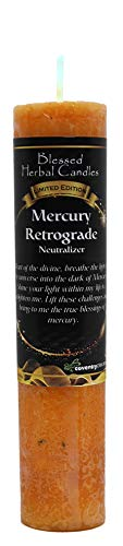 (Blessed Herbal Limited Edition Mercury Retrograde Candle )