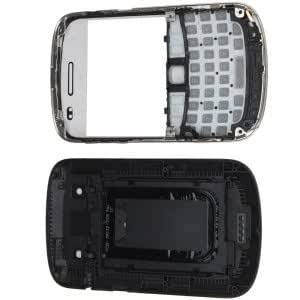 Cell Accessory Replacement Full Housing for BlackBerry 9900 Black + Free Tools
