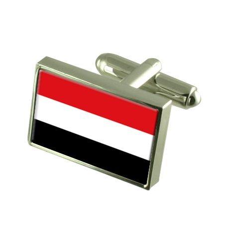 Yémen Boutons de manchette drapeau avec select pochette cadeaux
