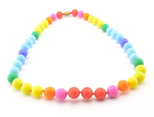 Teether - Rainbow Silicone Teething Nursing Necklace for Mom & Baby - BPA free - Latex Free