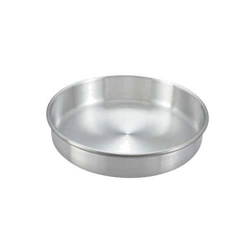 Winco Aluminum Round Layer Cake Pan, 10 x 2 inch - 1 each.