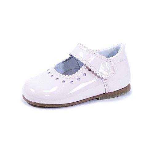 QKIS , Chaussures premiers pas pour bébé (fille) rose Cuir vernis rose